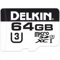 Delkin 64GB Micro SDHC 660X Class 10 UHS-I