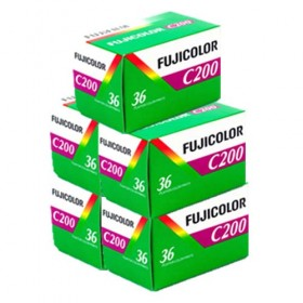 Fujicolor C200 36 Exposure Colour Film - 5 Pack