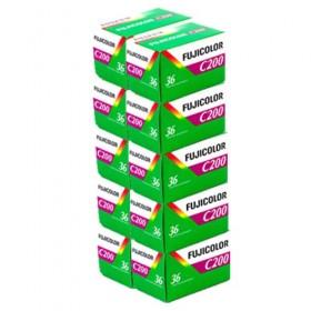 Fujicolor C200 36 Exposure Colour Film - 10 Pack